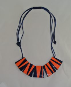 Zsiska – Adjustable necklace with resin, Pop Art squares
