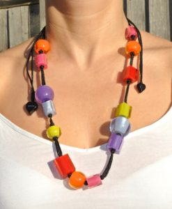 Zsiska – 14 Bead Mix Multicoloured Adjustable Necklace