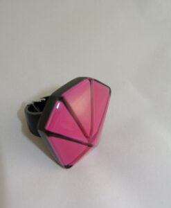Zsiska – Ring Origami Hexagon Design with resin stone