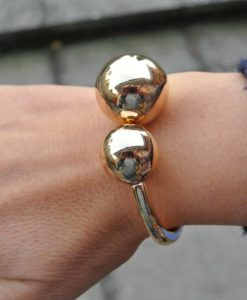 Adele Marie - Gold BALL HINGED BRACELET