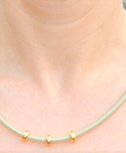 Industrial Jewellery – Polly handcrafted designer metal bracelet & necklace, gold