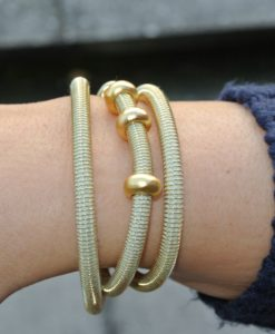 Industrial Jewellery – Polly Armband | Halskette, gold