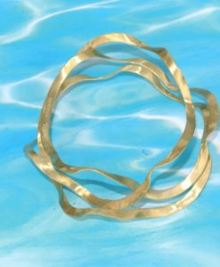 Chrysa Kouremeti – Seaweed Collection: 3 x Wave Bangle Set