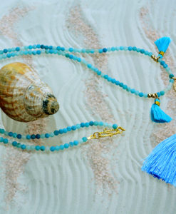 Necklace, Hand of Fatima, Blue, I CANDI Rocks