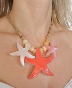 Necklace with large starfish pendant, Adele Marie